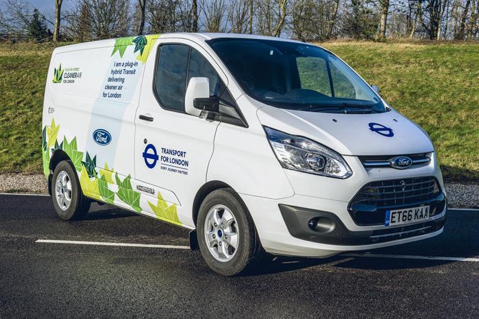 Ford Transit Custom-PHEV har den lille 1.0 Ecoboost-motor som rækkeviddeforlænger