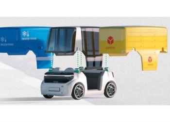 Pakkebil, kølebil eller personbil? Schaeffler' ide er at gøre Mover fleksibel og let at modificere til forskellige formål. Illiustration: Schaeffler