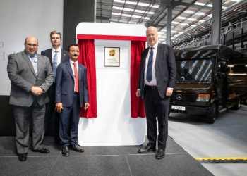 UPS's nye hub i London breder sig over næsten fem fodboldbaner. Foto: UPS