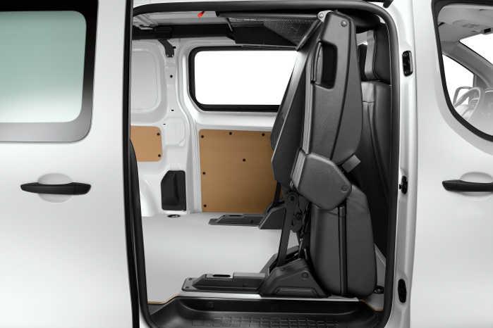 Klapsæder gør Citroën Jumpy mere fleksibel som mandskabsvogn. Foto: Citroën Kommunikation