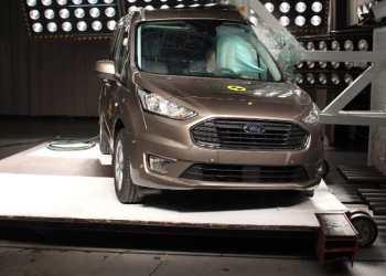 Ford Tourneo Connect klarede sidekollisionstesten til UG. Foto: EuroNcap