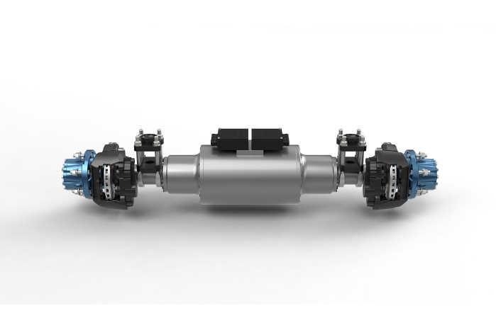 BPW's elektriske bagaksel er designet til tunge varebiler og små lastbiler op til 7,5 tons. Foto: BPW