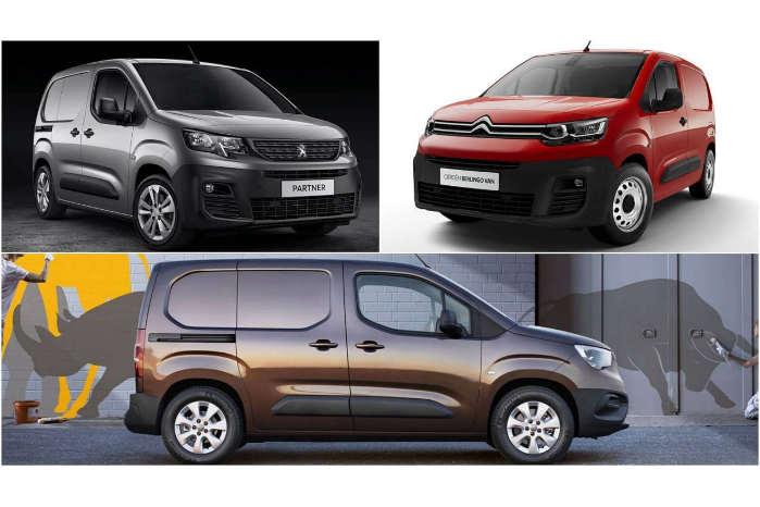 PSA-trillingerne Peugeot Partner, Citroën Berlingo og Opel Combo Cargo kandiderer én model