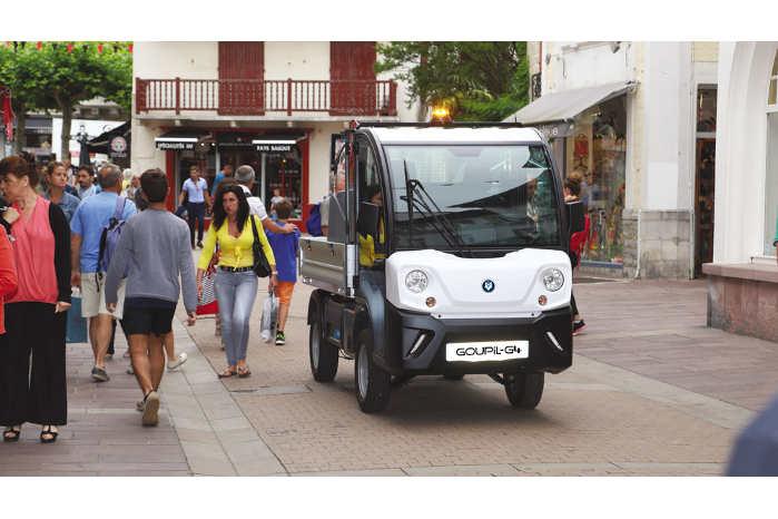 Med en bredde på kun 130 cm egner Goupil-bilerne sig godt til bymiljøet. Foto: Goupil