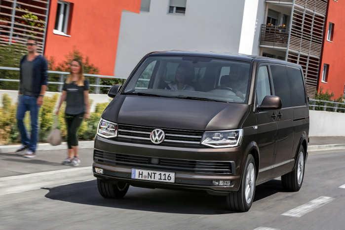 VW Transporter/Caravelle med 102-hestes dieselmotor holder analysens højeste gensalgsværdi. Foto: VW