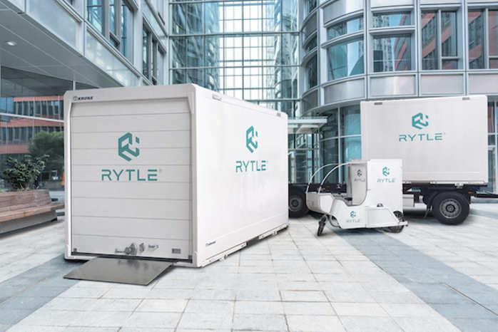 HUB er en transportboks, der indeholder op til 9 af de mindre bokse, der lastes på elcyklerne