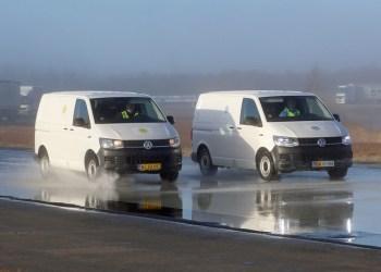 57 meter skulle testens ringeste dæktype bruge til at stoppe helt fra 800 km/t