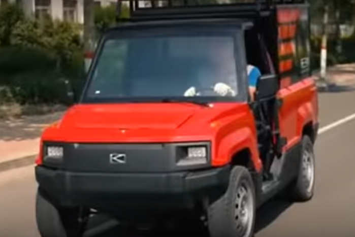 Bilens 5,3 hestes el-motor rækker kun til en topfart på 45 kmt