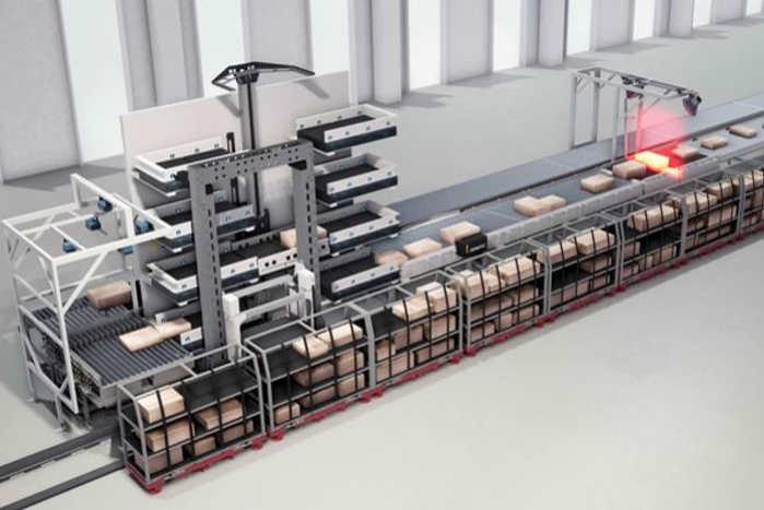 Dematic PackMyRide kan sortere og læsse pakkerne uberørt af menneskehånd. Foto: Dematic