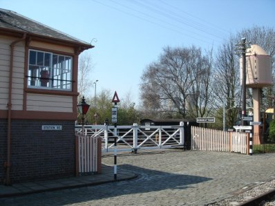 Didcot signal box and water tower