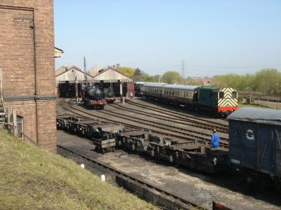 Outside the Engine Shed