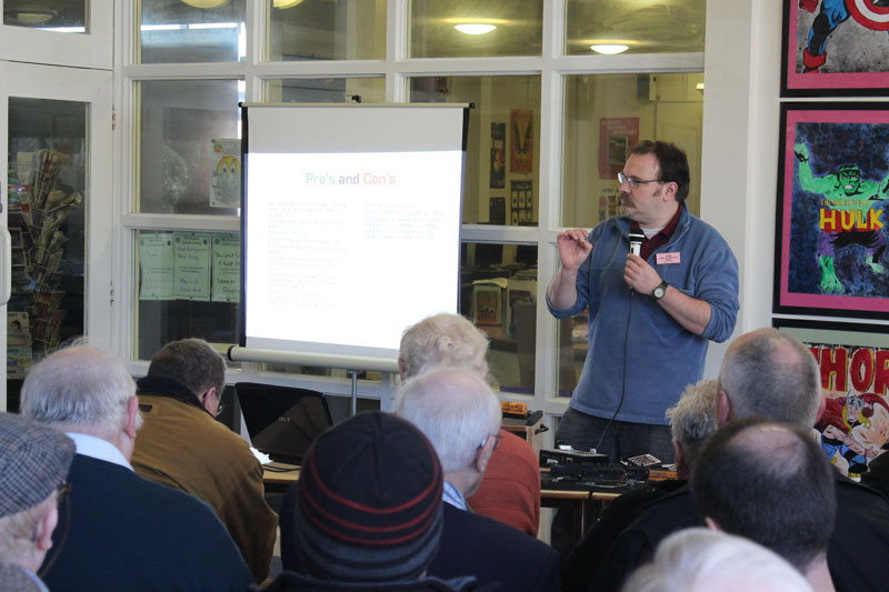 Group Member James Taylor gives a talk on Digital Command Control (DCC)