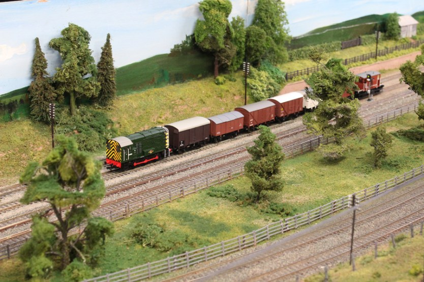 A goods train on Greenfield Siding
