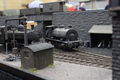 A saddle tank locomotive in Swansea Riverside