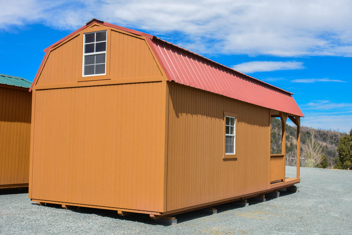 New Building 12 X32 Wrap Around Porch Lofted Barn Cabin