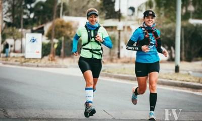 Garello y Aimar culminaron la primera etapa de la jornada atlética que organizaron. El pasado domingo hicieron 42K.