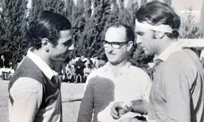 La imagen que retrata la visita de Pochola Silva a Río Cuarto.