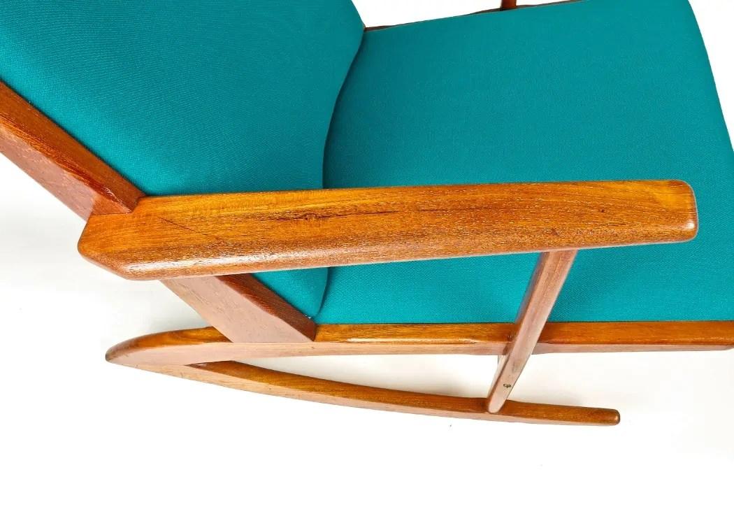 Mid Century Rocking Chair Danish Armchair Teak Chair Alto Stile