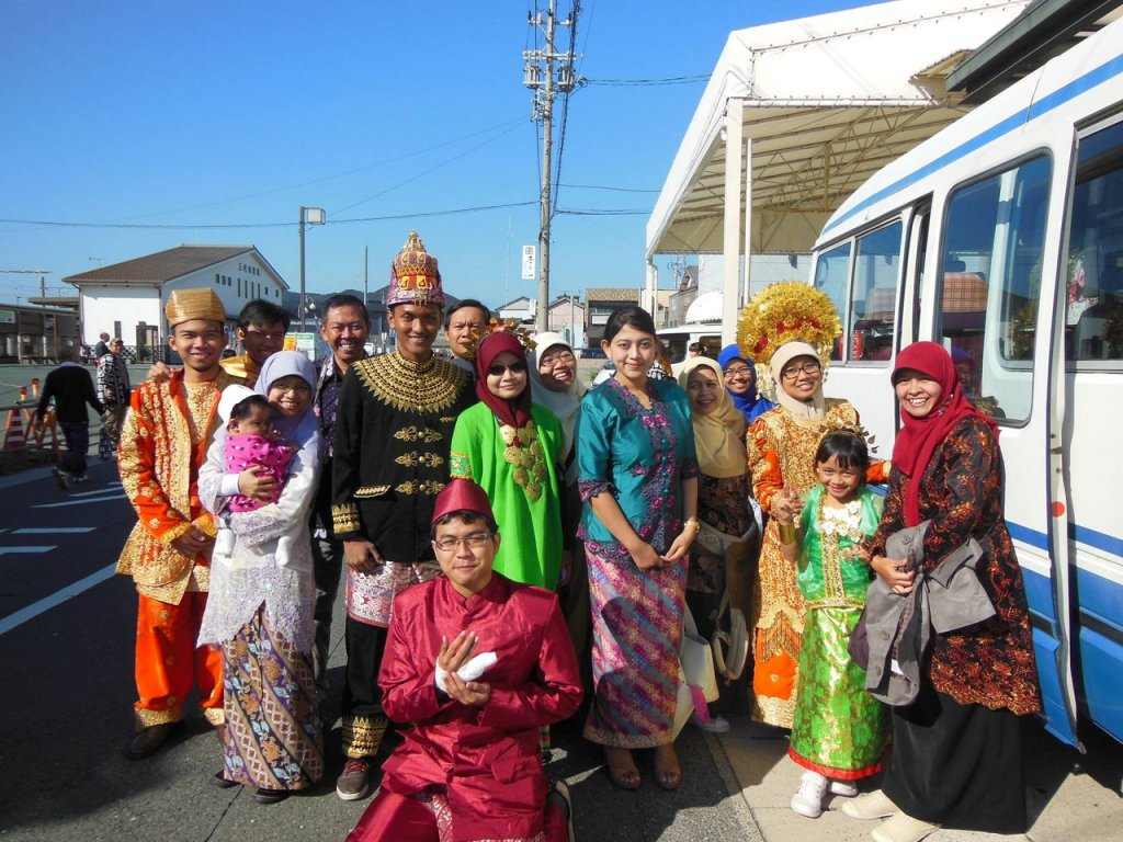 Indonesian team in the Tahara Citizen Festival, Japan
