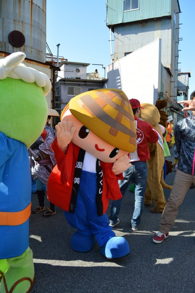 MUSHROOM monster in the Japanese festival in tahara city