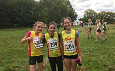 U13 Girls Relay Team Tackle Sutton Park