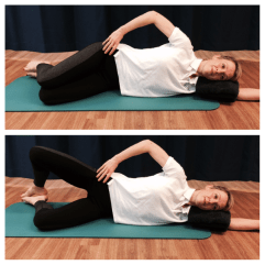 pilates helps knees SIDE LYING CLAM