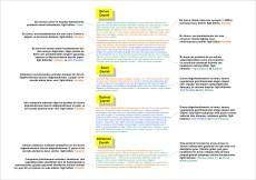 Bir sinopsisteki her cümle, senaryo taslağını meydana getiren bölümlerin içeriğinin en ekonomik yoldan anlatımıdır. Sinopsis, bu işlevsel ve ekonomik cümlelerin bir toplamıdır.