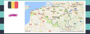 Map and flag of Belgium.