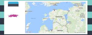 Map and flag of Estonia.