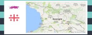 Map and flag of Georgia.