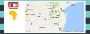 Map and flag of Swaziland.