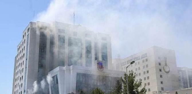 Jandarma Genel Komutanlığı'nda yangın çıktı.