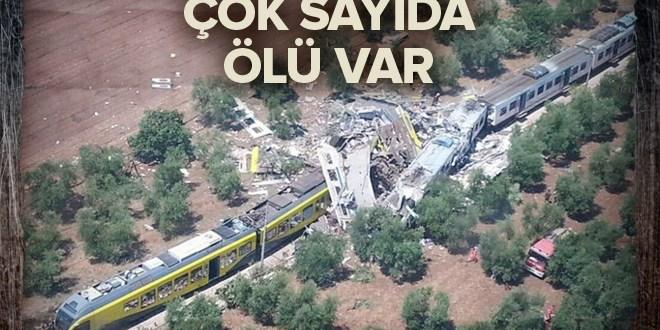 İtalya'da iki tren çarpıştı: 12 ölü.