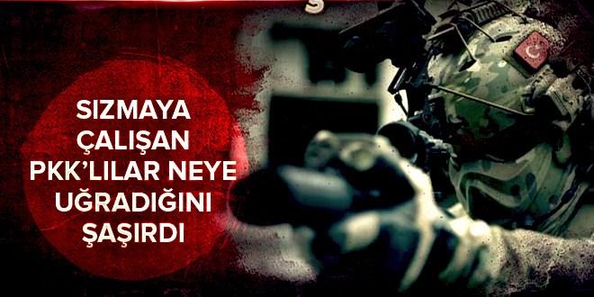 Hakkari'de sızmaya çalışan PKK'lıları jetler vurdu