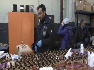 Başakşehir'de sahte parfüm fabrikasına baskın