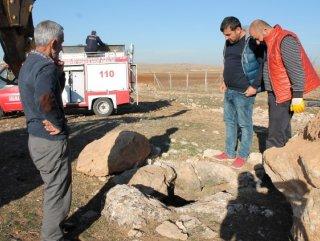 Mardin'de kuyuya düşen köpeği itfaiye ekipleri kurtardı