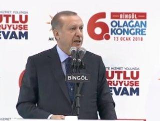 Cumhurbaşkanı Erdoğan Bingöl'de