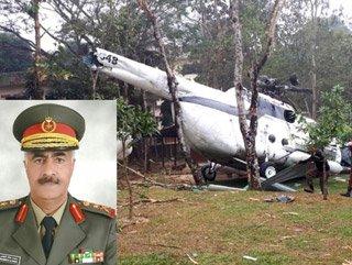 Kuveyt Genel Kurmay Başkanı'nı taşıyan helikopter düştü