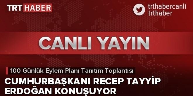 """Cumhurbaşkanı Erdoğan """"100 Günlük Eylem Planı""""nı açıklıyor"""