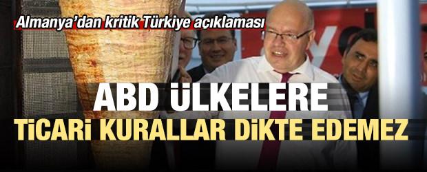 Almanya Ekonomi Bakanı'ndan Türkiye açıklaması!