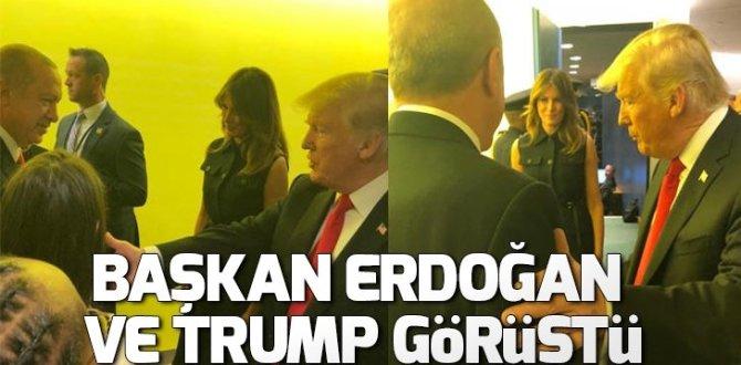 Cumhurbaşkanı Erdoğan ve ABD Başkanı Trump görüştü