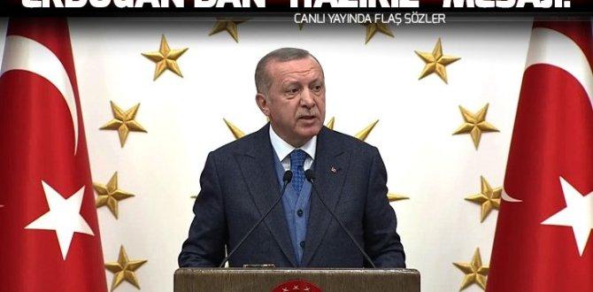 Erdoğan: Türkiye, ABD'nin çekileceği alanlarda terörle mücadele sorumluluğunu devralmaya hazır