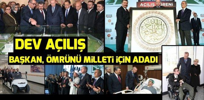 Başkan Erdoğan Bilkent Şehir Hastanesini açtı! Açılıştan dikkat çeken kareler…