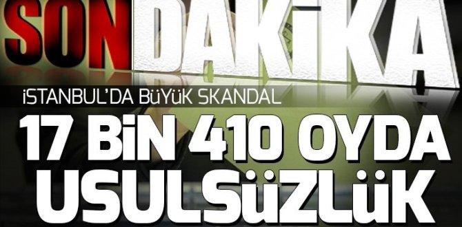 AK Parti'den yeni açıklama: 309 sandıkta 17 bin 410 sandıkta usulsüzlük