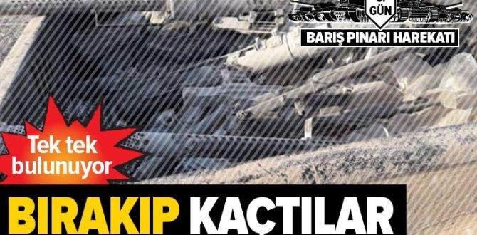 Teröristler, TIR'larla gelen milyonlarca liralık silahı bırakıp kaçtılar .