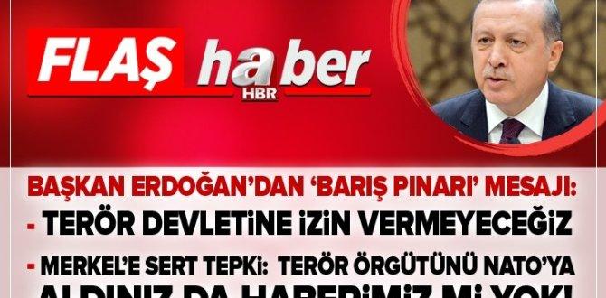 Son dakika: Başkan Erdoğan'dan flaş açıklamalar: Suriye'nin kuzeyinde terör devletinin kurulmasına izin vermeyeceğiz .