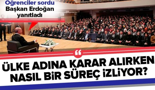 Başkan Erdoğan: Karar alma sürecim kesinlikle istişare kaynaklıdır .