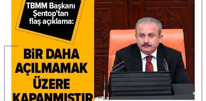 Son dakika: TBMM Başkanı Şentop: Demokrasi tarihinin bu karanlık sayfalarını bir daha açılmamak üzere kapanmıştır.