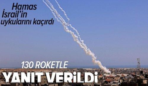 Son dakika | Hamas'tan terörist İsrail'e sert yanıt! 130 roketle saldırı düzenledi .