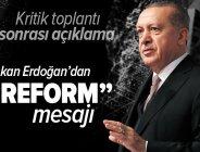 Son dakika: Külliye'de Yüskek İstişare Kurulu toplandı! Başkan Erdoğan: Daha güçlü demokrasi için reformları sürdüreceğiz